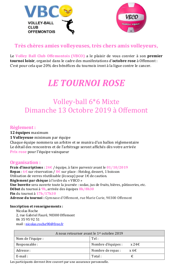 Tournoi rose 2019